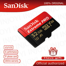 SanDisk Extreme Pro Micro SD การ์ด 128GB MicroSDHC SDXC UHS I การ์ดหน่วยความจำ 64GB TF Card 32GB U3 พร้อม SD Adapter สำหรับ nanica smitch