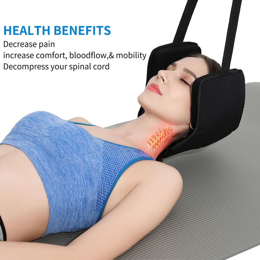 Neck Head Hammock for Neck Pain Relief,  Cervical Traction DeviceNeck Stretcher and hammock stand with Durable Elastic Safety