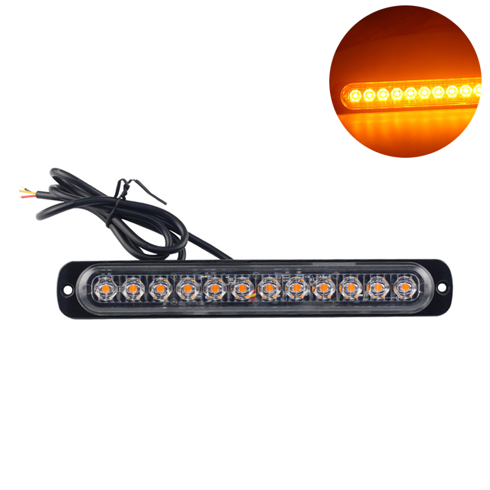 Car Strobe Lights Warning Light Lamp 12/13/14/15/16 LED Truck LED Side Lamp Stop Signal Parking Light image