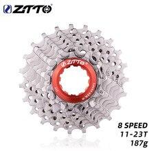 ZTTO – pignon de vélo de route 8s 16s 24s, roue libre de vitesse 8S 11-23T, volant d'inertie de Cassette 8v k7 pour vélo 2400 2300 Claris