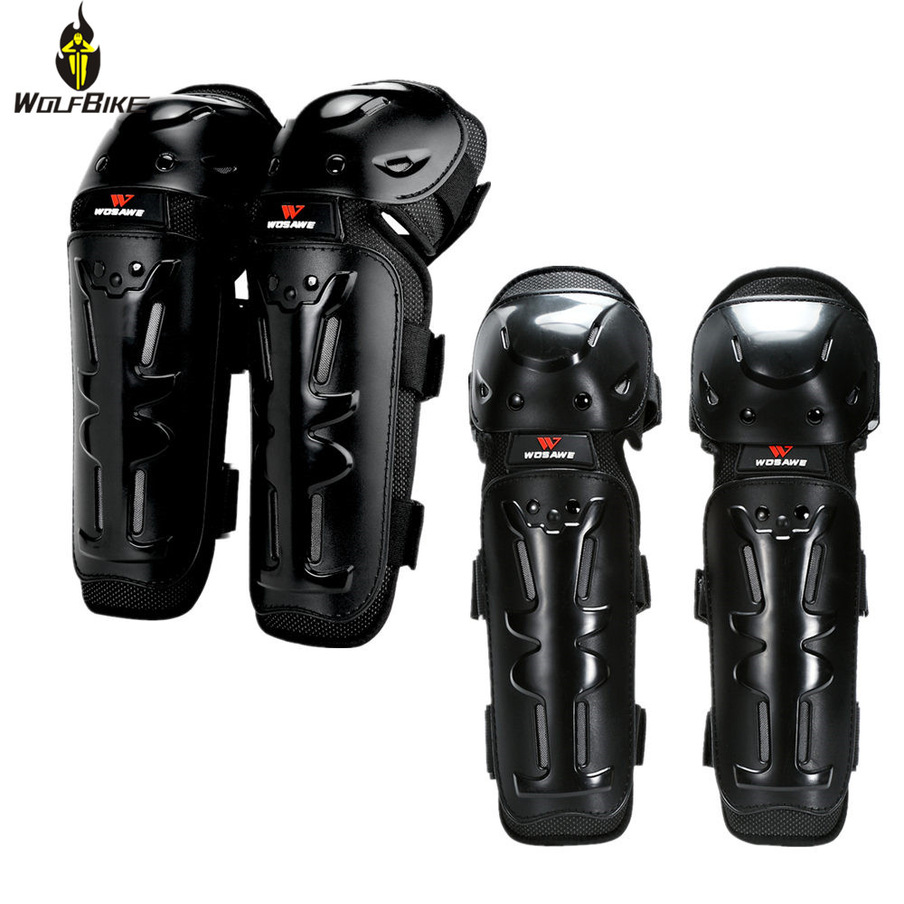 Motorcycle Motocross Elbow Knee Shin Protector Shells Guard Armor Sport Pads US