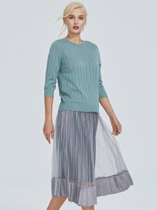 Женский свитер с коротким рукавом Astrid, светло-зеленый свитер с коротким рукавом, MS-005
