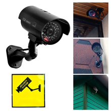 Fake-Camera Surveillance-Bullet Solar-Power CCTV Security Outdoor Led-Light Simulation
