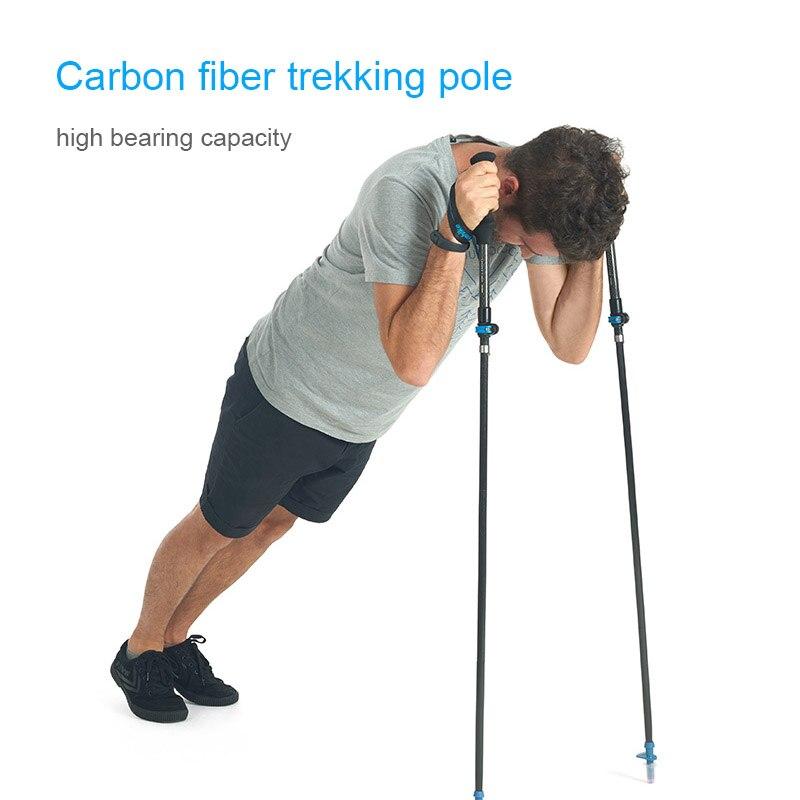 caminhadas bengala telescópica pólo caminhada 5 seção alpenstock