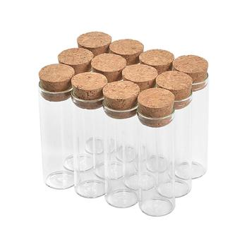 18ml Empty Glass Containers Glittering and Translucent Tube Bottles can be filled Perfumes Letter Paper and Making Craft Vials
