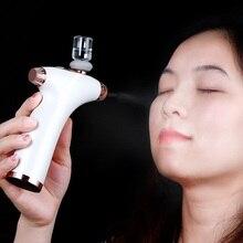 صغيرة باليد جهاز لقياس الأكسجين نانو البخاخ ترطيب الوجه ترطيب تجديد العناية بالبشرة الجمال ماكينة رش USB تهمة