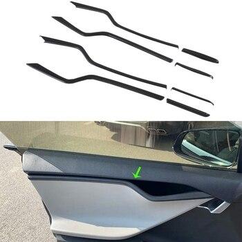 Car Inner Door Trim Cover Interior Mouldings Trims for Tesla Model S 2016-2019 Car Accessories, 8PCS