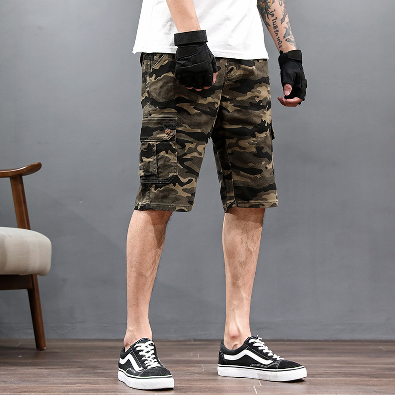 Summer MEN'S Casual Shorts Thin Loose Elasticity Camouflage Sports Shorts Plus-sized Beach Shorts Fashion