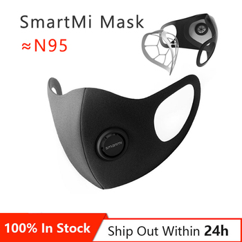 1-20PCS SmartMi PM2.5 Haze Mask Anti-haze Mask Adjustable Ear Hanging 3D Design Comfortable Light Breathing Mask  M L