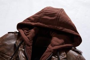 Image 5 - BOLUBAO ماركة الموضة الرجال بولي سترات سترات من الجلد شتاء جديد الرجال سترة جلدية مريحة الذكور عارضة مقنعين سترة جلدية معطف