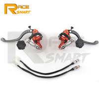 For Dirt&Street&Scooter CNC Motorcycle Master Cylinder Lever Hydraulic Brake Pump Clutch Handle Handlebar Reservoir Set