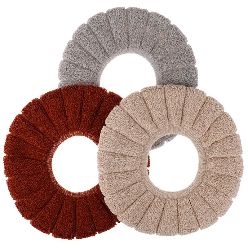 1Pcs Velvet Coral Bathroom Toilet Seat Cover Washable Pumpkin Pattern Soft Cushion Comfortable Warm Closestool Mat Seat Case