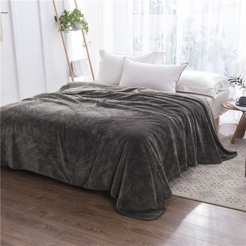 High Quality Thick Flannel Fleece Blanket, Bedspread Solid Color Brown,army Green, Khaki