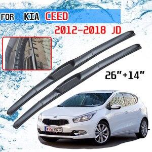 Image 1 - For KIA Ceed Ceed 2012 2013 2014 2015 2016 2017 2018 JD Accessories Car Front Window Windscreen Wiper Blades Brushes U J Hook