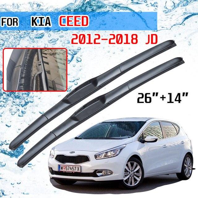 For KIA Ceed Ceed 2012 2013 2014 2015 2016 2017 2018 JD Accessories Car Front Window Windscreen Wiper Blades Brushes U J Hook