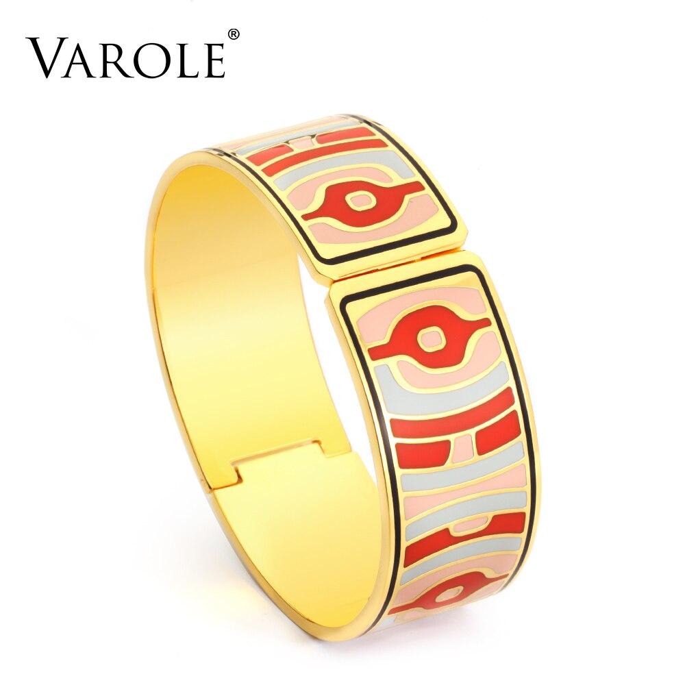 VAROLE mode bracelet à breloques pour les femmes or géométrique coloré Couples émail bracelet conceptions bijoux cadeaux