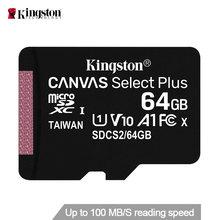 Kingston-tarjeta de memoria Micro SD, Memoria flash Clase 10 de 128GB, 64GB, 32GB, 16GB, SDCS2 100 MB/S, velocidad de lectura
