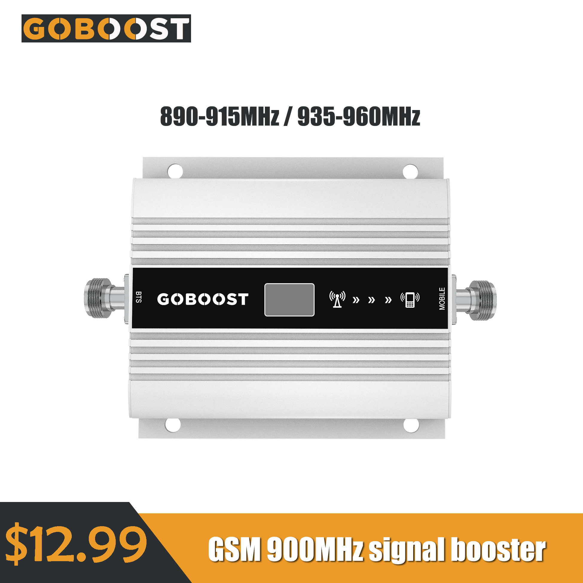 2G Signal Booster GSM 900MHz Band 8 Cell Mobile Phone Signal Booster LCD Display 60dB Gain Cellular Signal Amplifier Repeater
