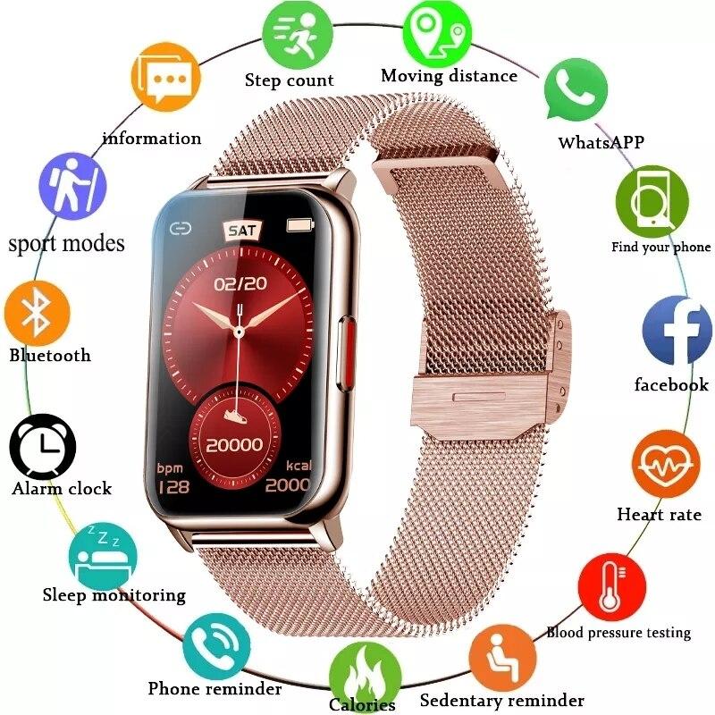 חכם להקת 6 שעון כושר Tracker צמיד עמיד למים Smartwatch קצב לב צג דם חמצן OLED מסך עבור Huawei Xiaomi