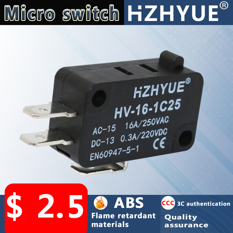 AC125//250V Button Actuator SPDT Micro Miniature Switch LXW-16-1-3 DT