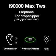 Original i90000 Max TWS Bluetooth Earphone Wireless Headphone Air2 in Ear Stereo Earbuds For Phone Bass Headset with Microphone(China)