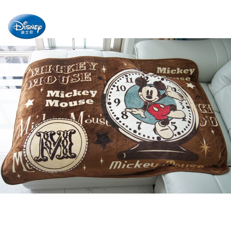 Disney-Cartoon-Brown-Mickey-Mouse-Thick-Soft-Flannel-Blanket-Throw-for-Baby-Kids-on-Bed-Sofa (1)