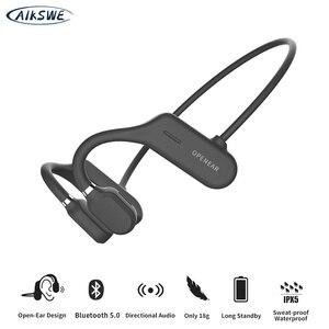 AIKSWE Bluetooth 5,0 открытые наушники Беспроводные спортивные наушники объемный звук стерео HD свободные руки для бега велоспорта