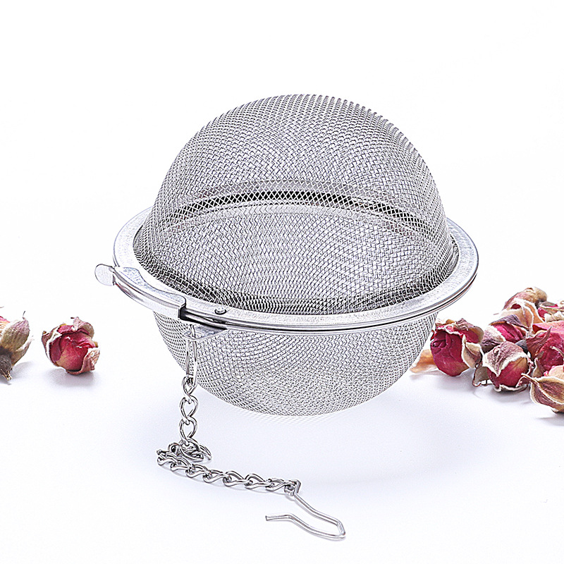 Strainer-Mesh Infuser TEA-FILTER Kitchen-Accessories Sphere-Locking Spice Stainless-Steel