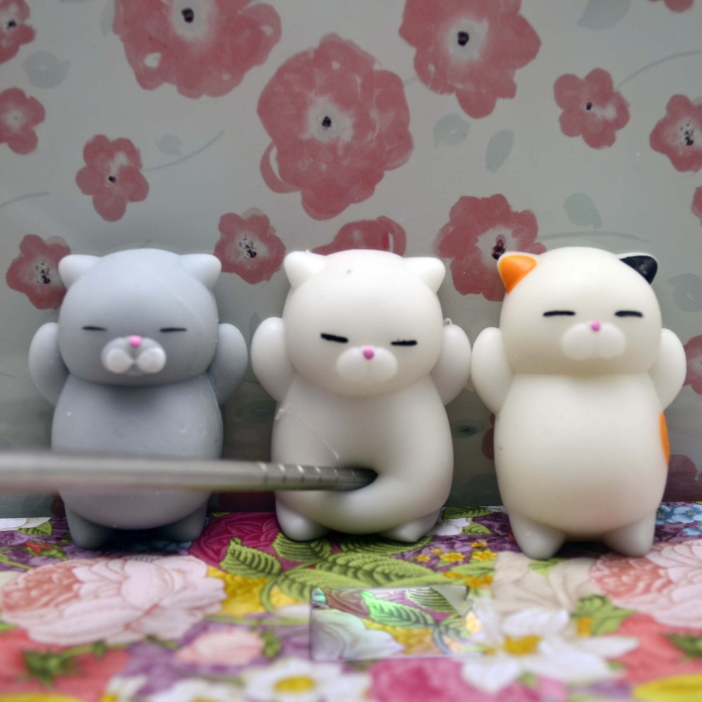 Cute Mochi Squishy Cat Squeeze Healing Fun Kids Kawaii Toy Stress Reliever Decor animal Noverty Toys Stop Stress(China)
