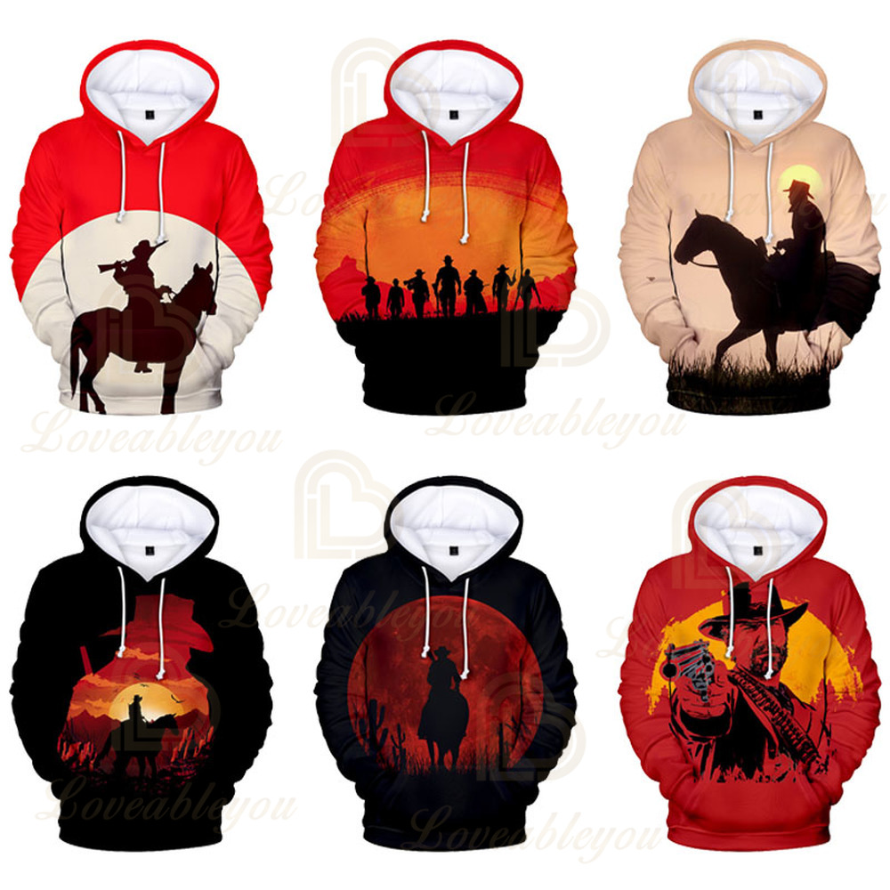 Red Dead Redemption 2 Hoodies 3D Men/Women Hoody Hooded Shooting Game Polluvers Tracksuit Kids Autumn Winter Coats Tops