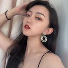 купить Fashion Jewelry Fresh Two Tone Colorful Drop Earrings Hollow Round Dangle Earrings Women Gift по цене 89.23 рублей