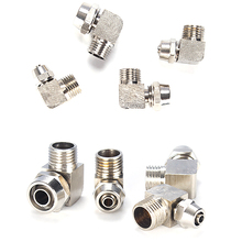 Pneumatic Fittings Hose Tube M5 1/8'' 1/4'' 3/8'' 1/2'' Male Thread Pneumatic Fast twist Fittings Elbow Quick Joint Connector free shipping slseries 4 6 8 10 12mm adjustable joint throttle valve pneumatic element m5 01 02 03 m5 1 8 1 4 3 8