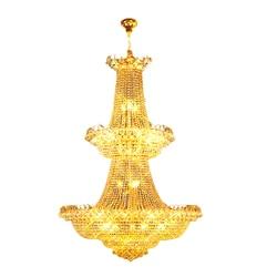 Nowoczesny duży kryształowy żyrandol jasne złoto/Chrome Foyer kryształowy żyrandol światła szerokość 120cm gwarantowana 100% + darmowa dostawa!