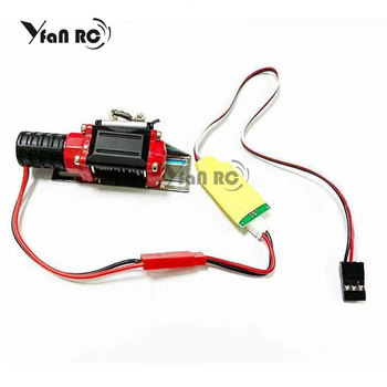 Automatic Winch and Wireless Remote Controller Receiver for 1/10 RC Crawler Car Axial SCX10 Trx-4 TRX4 D90 TF2 Tamiya CC01 90046 rc crawler car reverse axle sets upgrade parts for 1 10 remote control axial scx10 2 ii jeep cherokee 90046 47 4wd d90 tf2 truck