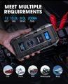 20800mAh Topdon Car Jump Starter V2000 1200A JumpStarter Starting Device Wireless Power Bank Charger Emergency Car Auto Booster
