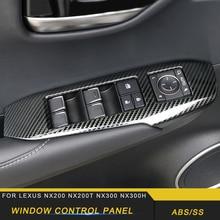 Для LEXUS NX200 NX300 NX300h Автомобильная дверь, окно, кнопка управления, панель, крышка, рамка, наклейка, хромированные аксессуары для интерьера