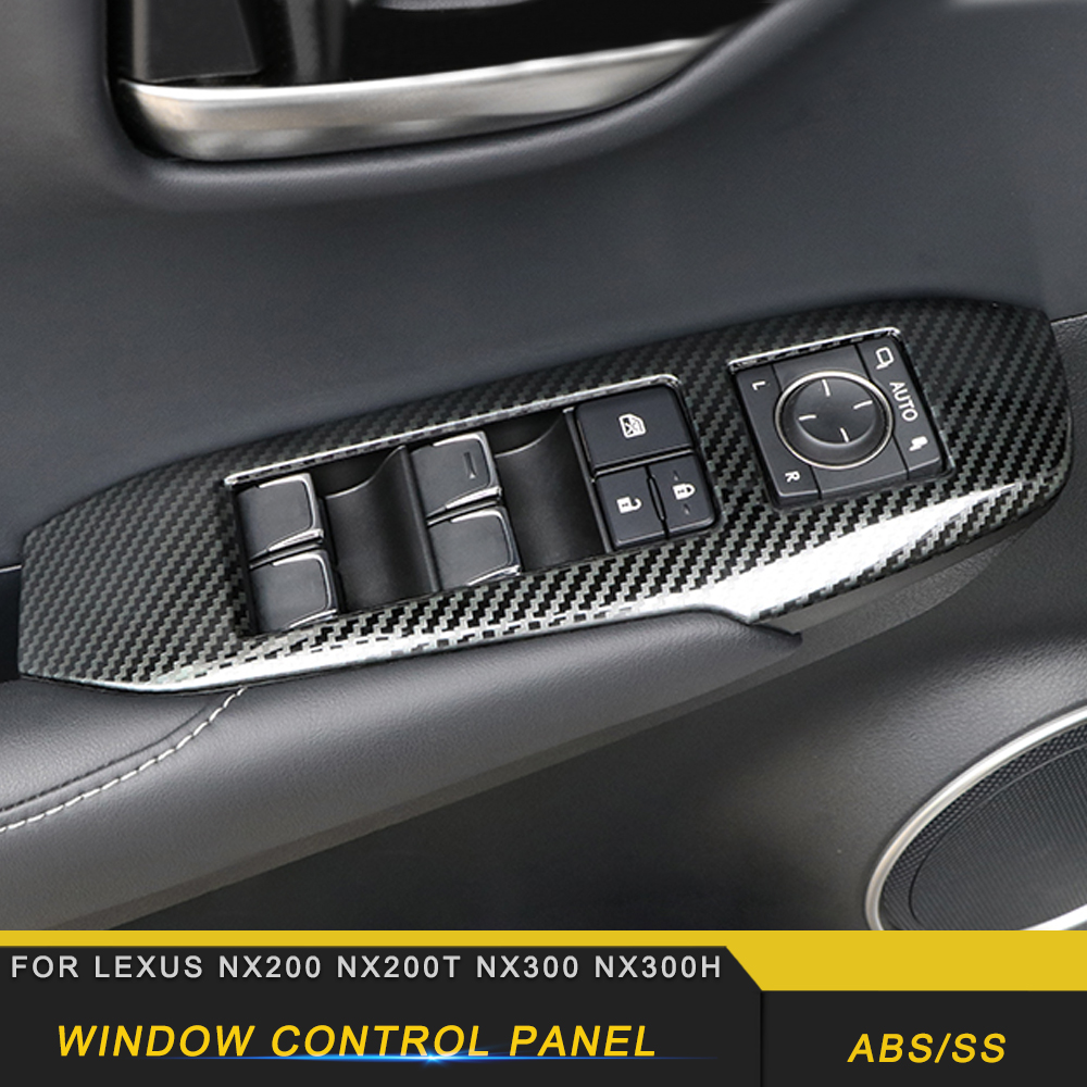 For <font><b>LEXUS</b></font> NX200 NX300 <font><b>NX300h</b></font> <font><b>Car</b></font> Door Window Control Lift Button Panel <font><b>Cover</b></font> Frame Sticker Chrome Interior Accessories image