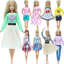 Skirt Wear-Accessories Outfit Wave-Point-Dress Barbie-Doll Fashion Casual Denim Multicolor