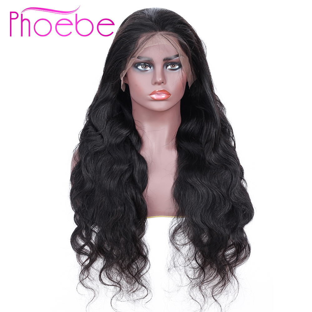 Phoebe 13x4 Lace Frontal Human Hair Wigs Hair Brazilian Body Wave Lace Frontal Wig With Baby Hair For Black Women Non-Remy