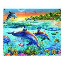 Diamond painting foreign trade diy new 5d animal underwater world cross stitch