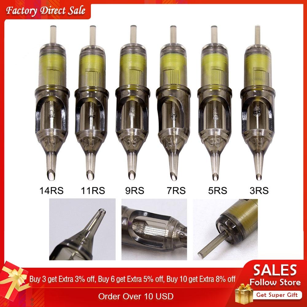 Universal Tattoo Cartridge Needles Disposable Semi-Permanent Makeup Eyebrow Tattoo Pen Machine Supply 3/5/7/9/11/13/15 RS