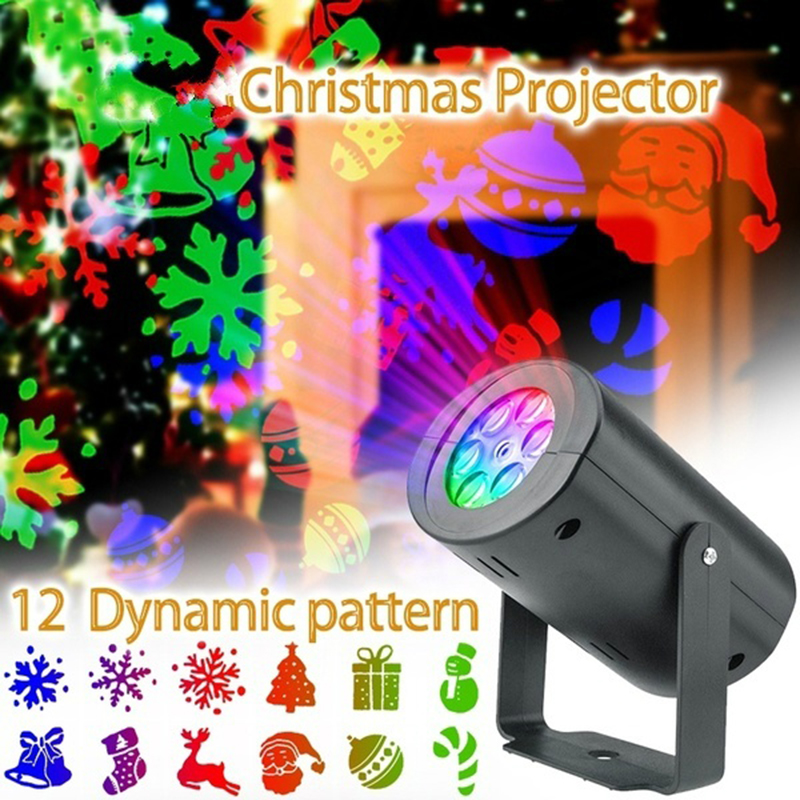 Christmas 12 Pattern Automatic Rotating LED Projector Lights Waterproof Indoor Christmas Spotlight Night Lights Landscape Lamps|Stage Lighting Effect|   - AliExpress
