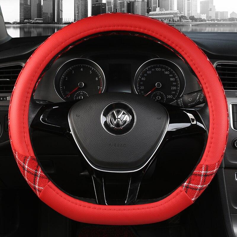 38 см спортивные Чехлы рулевого колеса автомобиля противоскользящие
