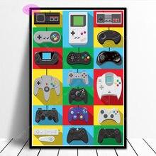 Nt1063 poster imprime quente controladores de videogame crianças presente anime parede em quadrinhos quadros da arte lona pintura a óleo decoração do quarto casa