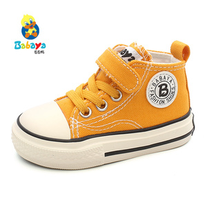 Image 2 - Childrens canvas shoes baby shoes boys 1 3 years old toddler shoes girls cloth shoes 2019 autumn new