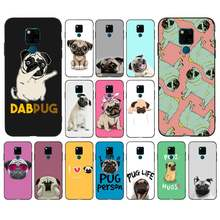 MaiYaCa Pug dog seen things dog Newly Arrived Black Cell Phone Case for huawei mate 8 S 9 10 lite 10pro 20 X 20pro 20lite case(China)