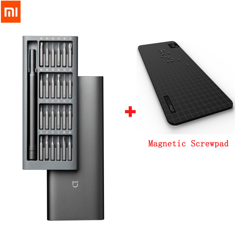 2020 Original Xiaomi Daily Use Screwdriver Kit 24 Precision Magnetic Bits Alluminum Box DIY Screw Driver Set For Smart home(China)
