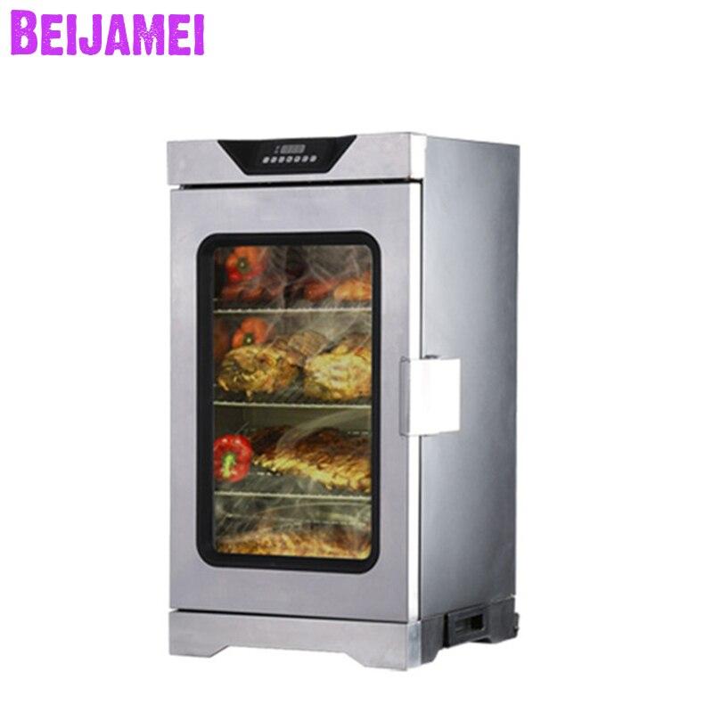 BEIJAMEI Электрическая коптильня для рыбы машина/машина для копчения мяса колбасы электрическая пищевая коптильня печь для продажи