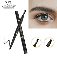 MUSIC ROSE 2 in 1 Double Head Eyebrow pencil Makeup Waterproof Long Lasting Enhancer Cosmetics