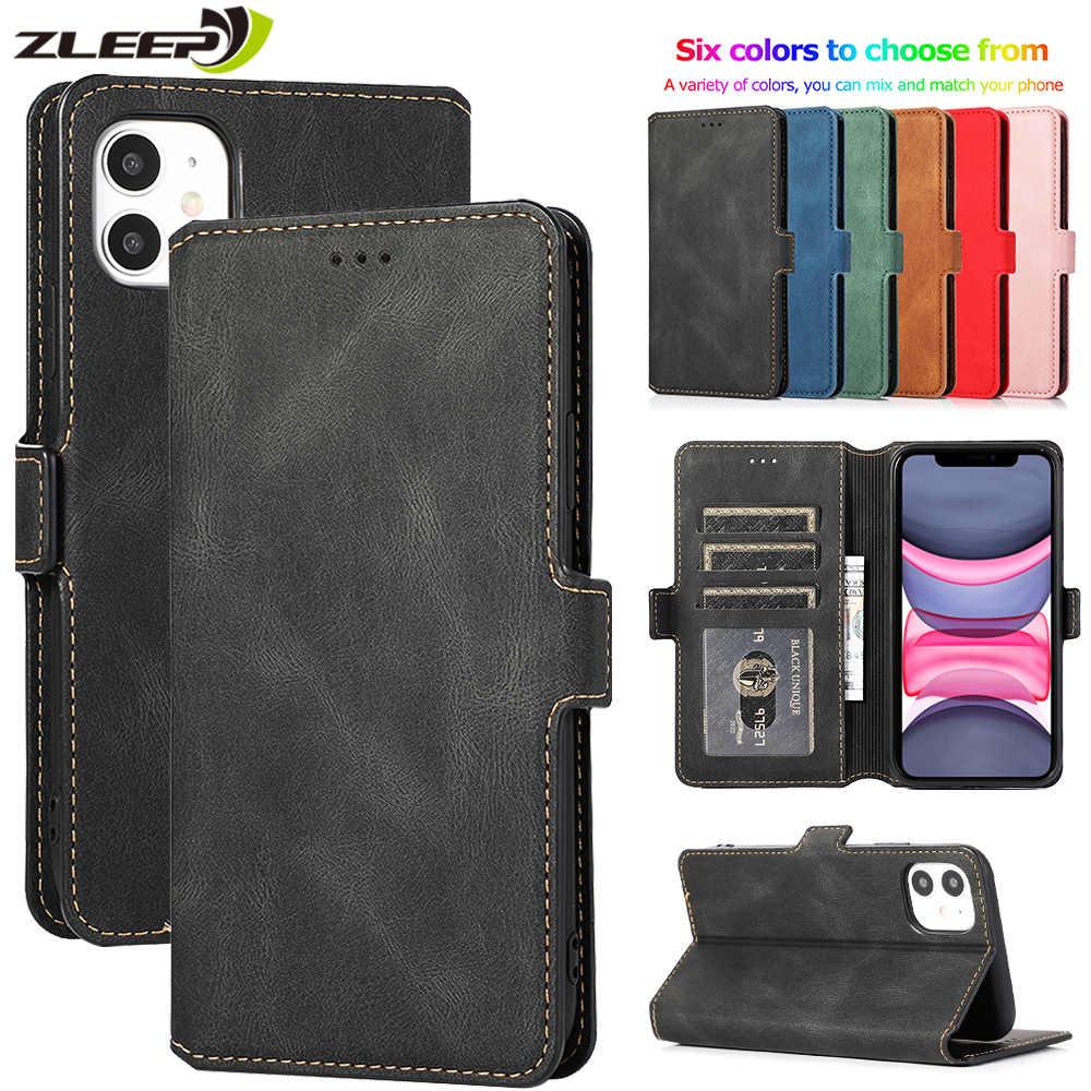 Luxe Flip Portemonnee Lederen Case Voor Iphone 11 Pro Xs Max Xr X 6 6 S 7 8 Plus 5 5 S Se 2020 Magnetische Kaarten Stand Telefoon Cover Etui